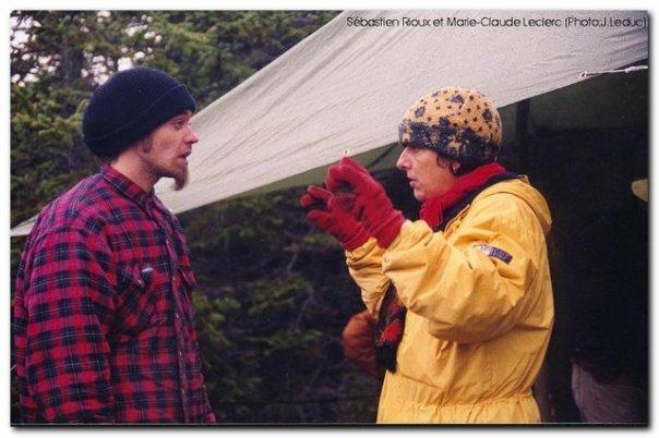 Lors de la vigile pour sauver la rivière Trois-Pistoles, novembre 2002